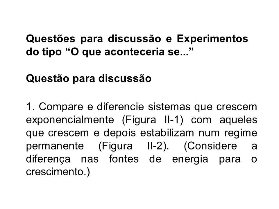 Questões para discussão e Experimentos do tipo O que aconteceria se...