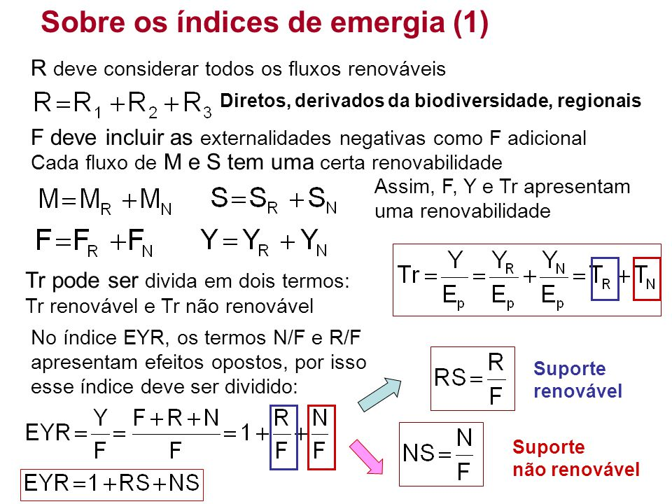 Sobre os índices de emergia (1)