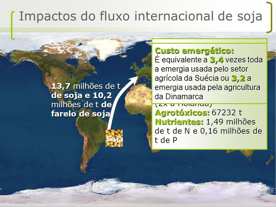 Impactos do fluxo internacional de soja