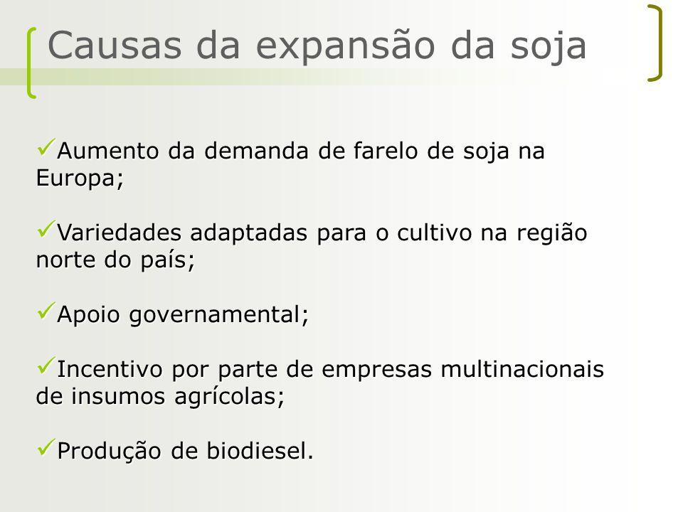 Causas da expansão da soja