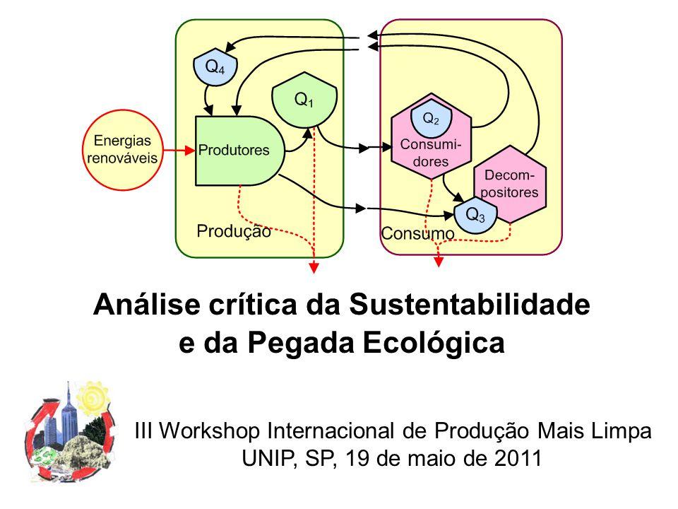 Análise crítica da Sustentabilidade e da Pegada Ecológica