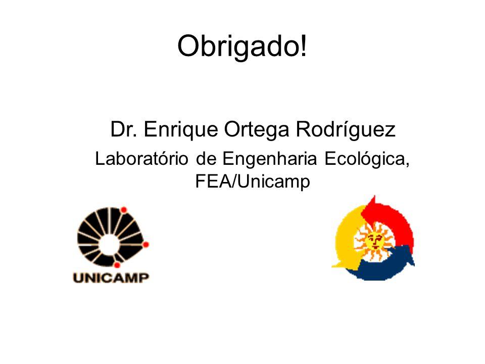 Obrigado! Dr. Enrique Ortega Rodríguez