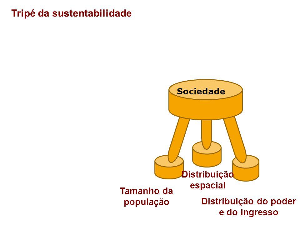 Distribuição espacial Distribuição do poder e do ingresso