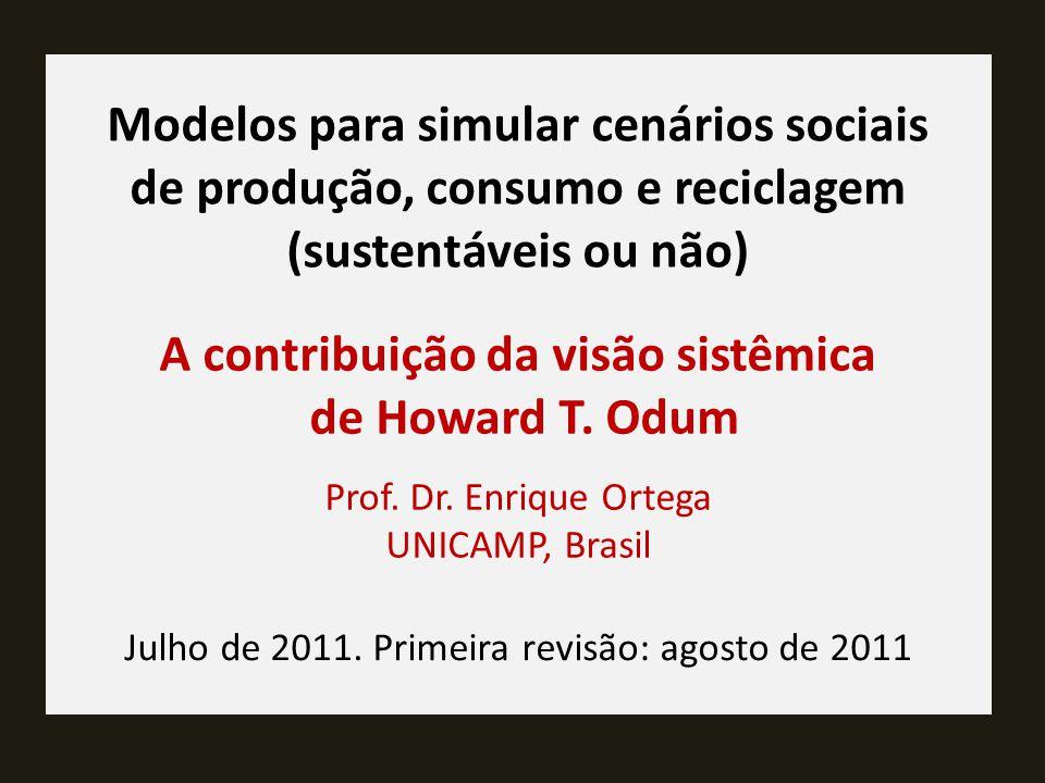 A contribuição da visão sistêmica de Howard T. Odum