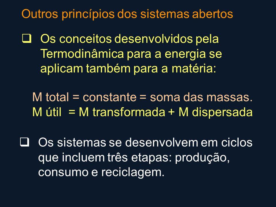 Outros princípios dos sistemas abertos