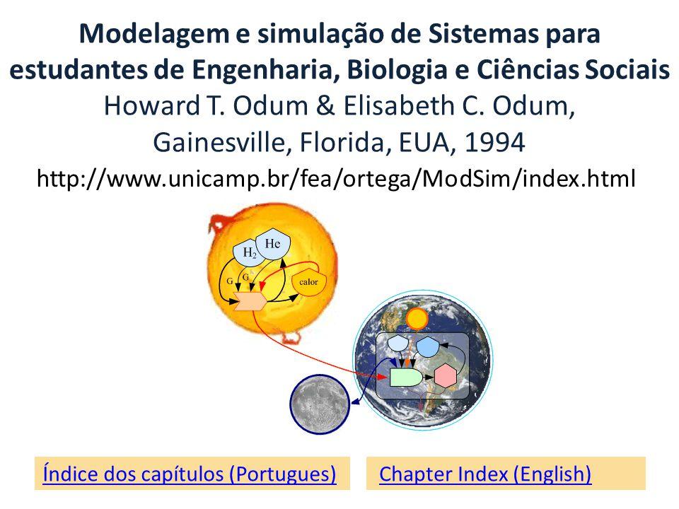 Modelagem e simulação de Sistemas para estudantes de Engenharia, Biologia e Ciências Sociais Howard T. Odum & Elisabeth C. Odum, Gainesville, Florida, EUA, 1994