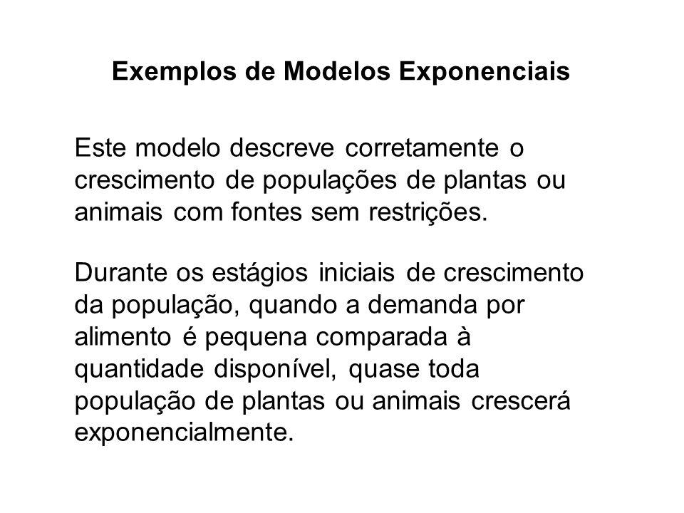 Exemplos de Modelos Exponenciais