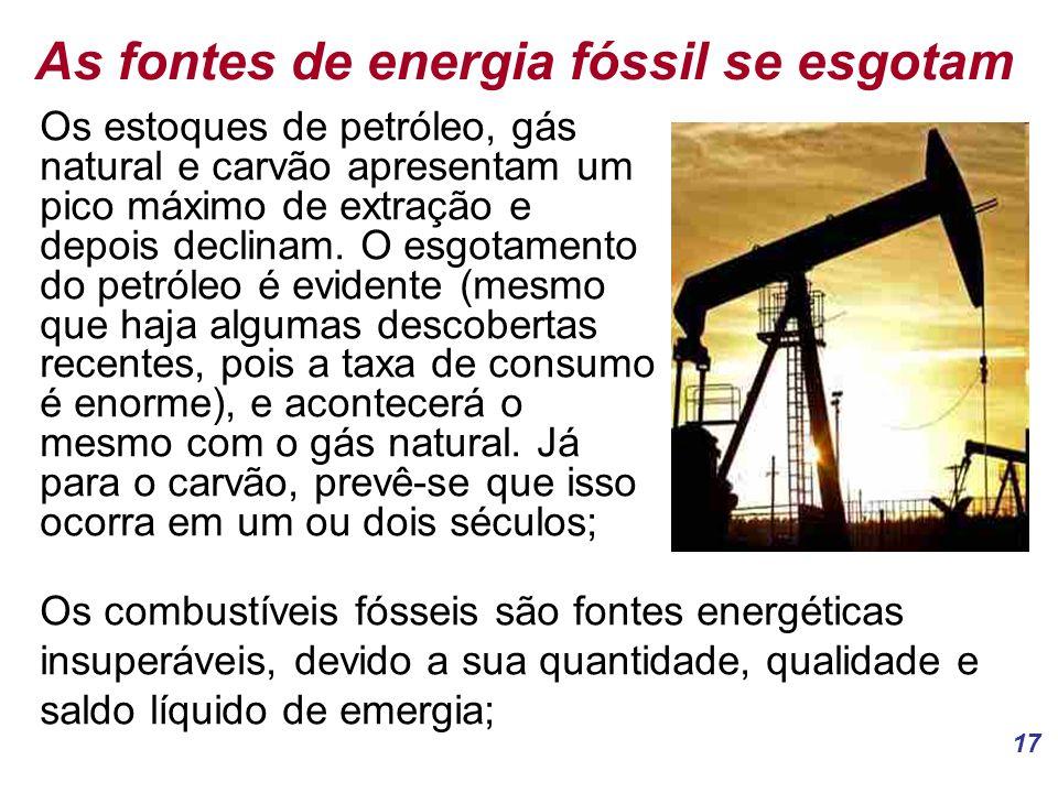 As fontes de energia fóssil se esgotam