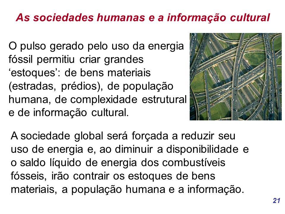 As sociedades humanas e a informação cultural