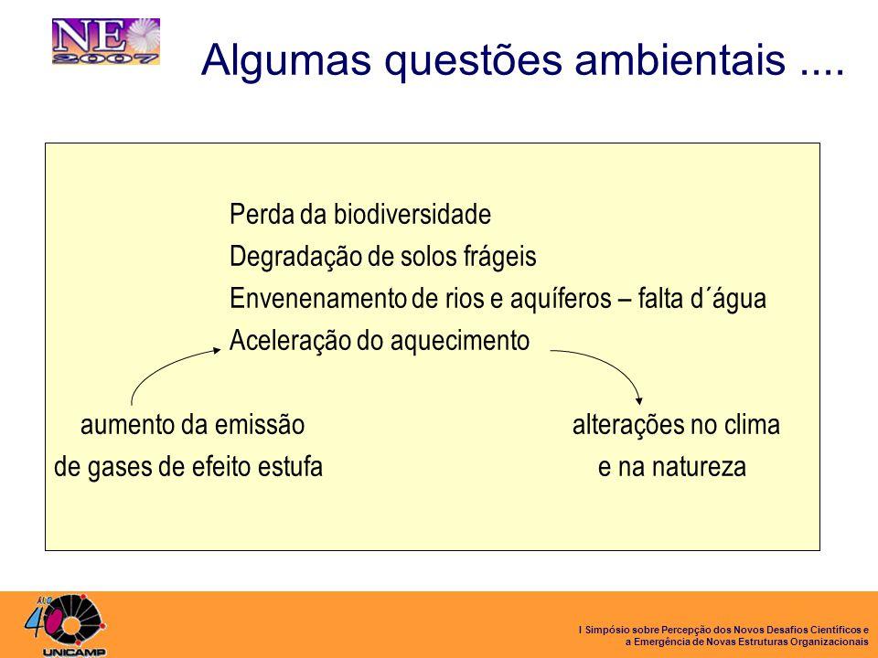 Algumas questões ambientais ....