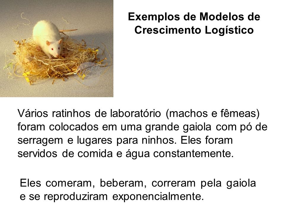 Exemplos de Modelos de Crescimento Logístico
