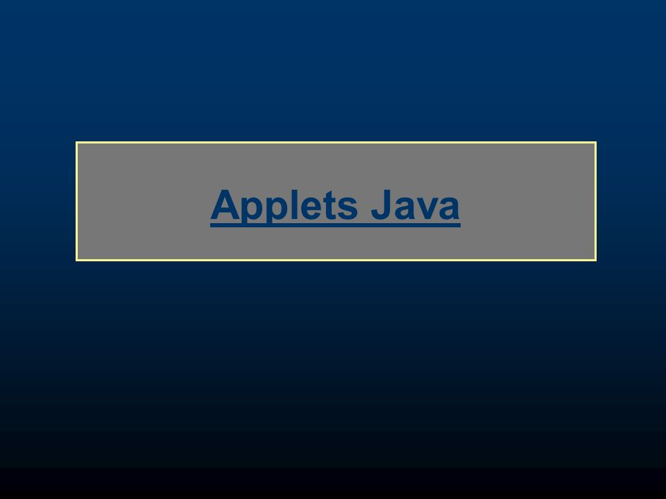 Applets Java
