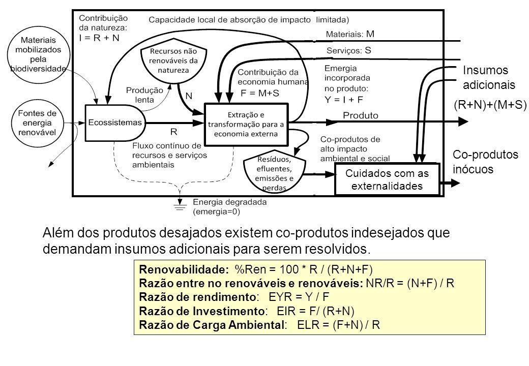 Insumos adicionais (R+N)+(M+S) Co-produtos inócuos. Cuidados com as externalidades. Tratamento de efluentes.