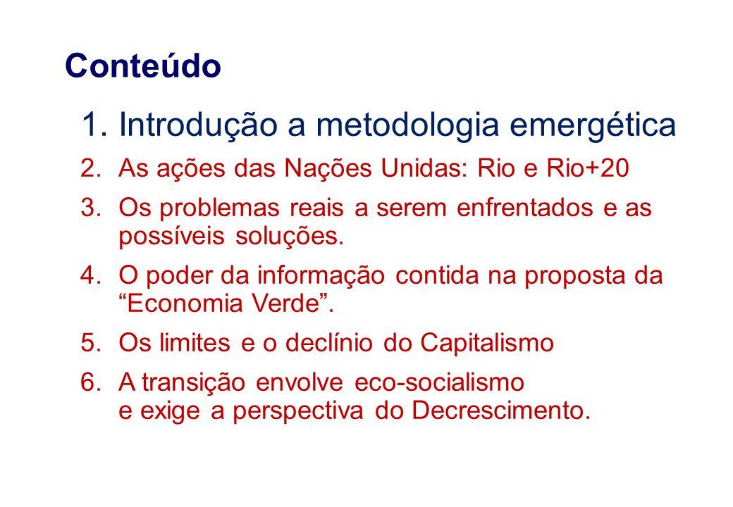Introdução a metodologia emergética