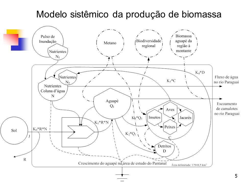 Modelo sistêmico da produção de biomassa