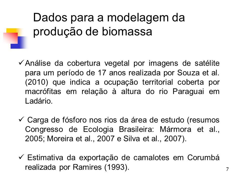 Dados para a modelagem da produção de biomassa