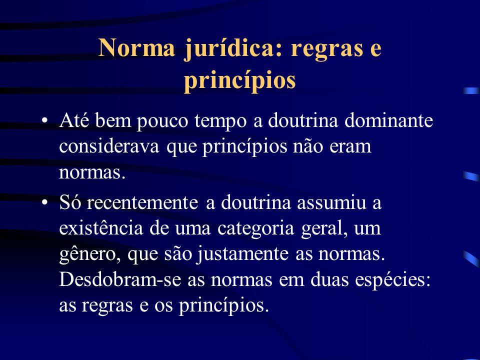 Norma jurídica: regras e princípios