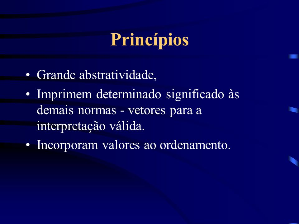 Princípios Grande abstratividade,