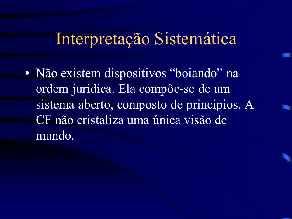 Interpretação Sistemática
