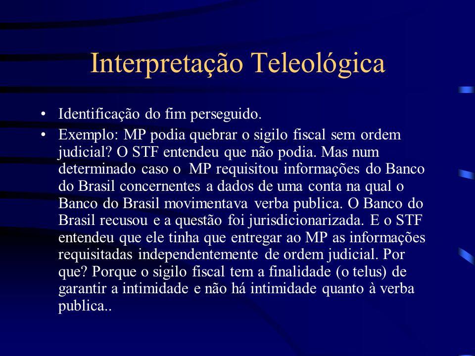 Interpretação Teleológica