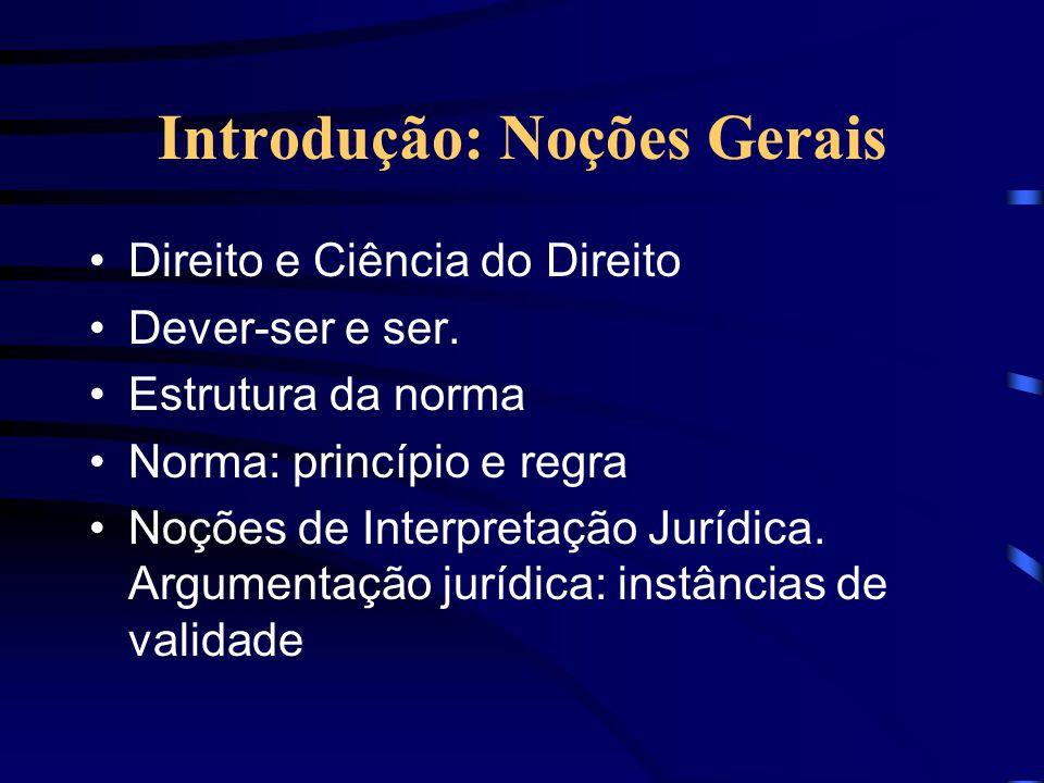 Introdução: Noções Gerais