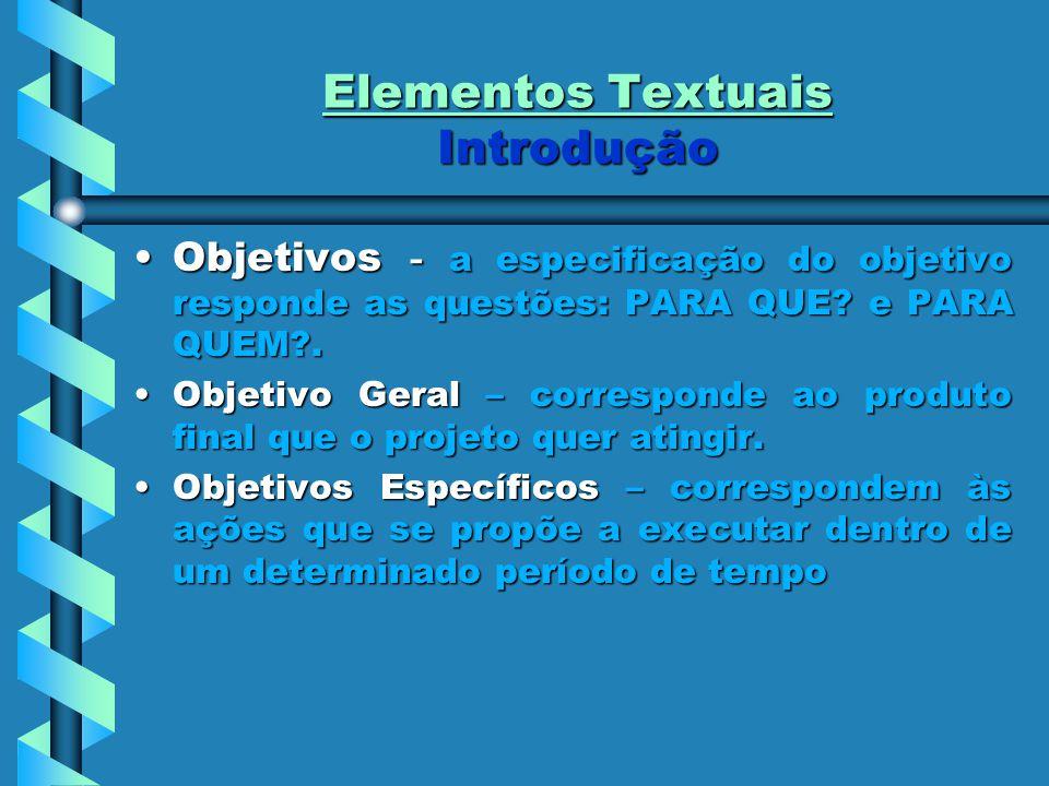 Elementos Textuais Introdução