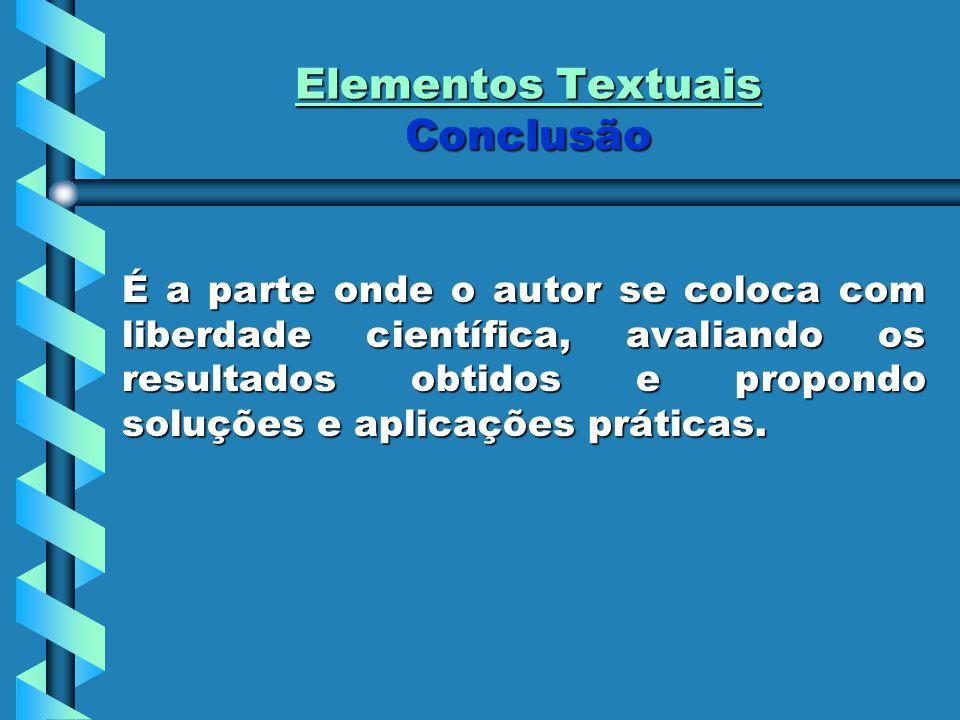 Elementos Textuais Conclusão