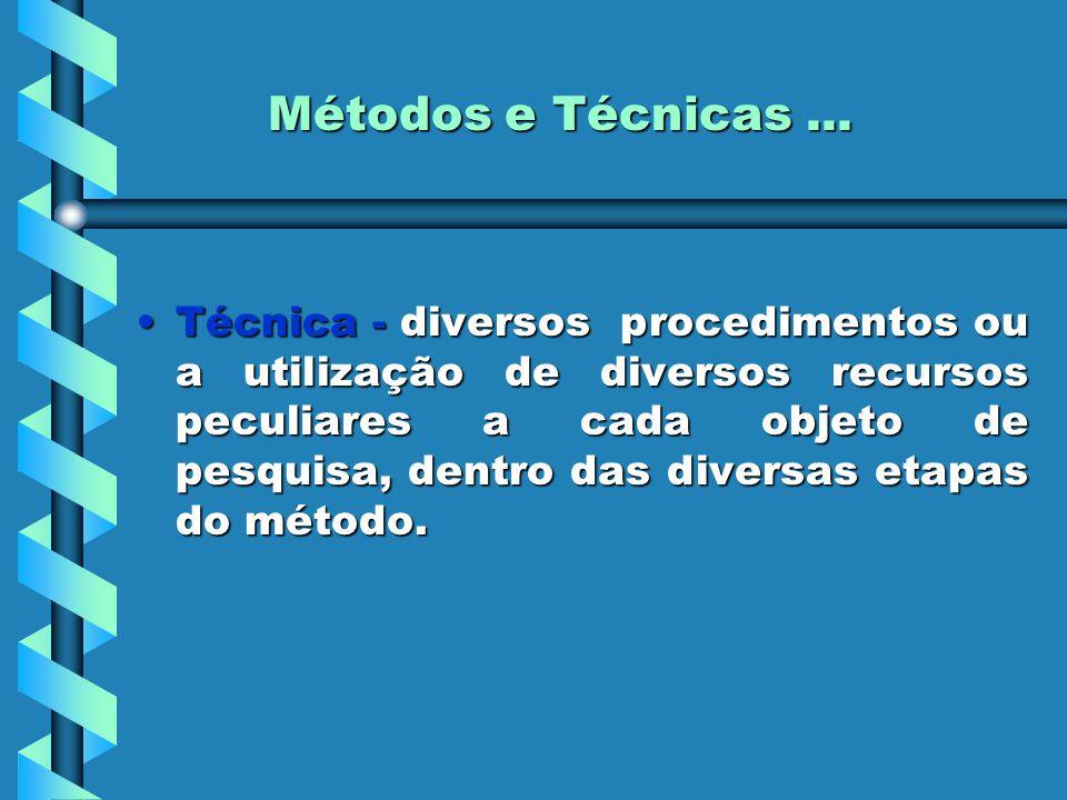 Métodos e Técnicas ...