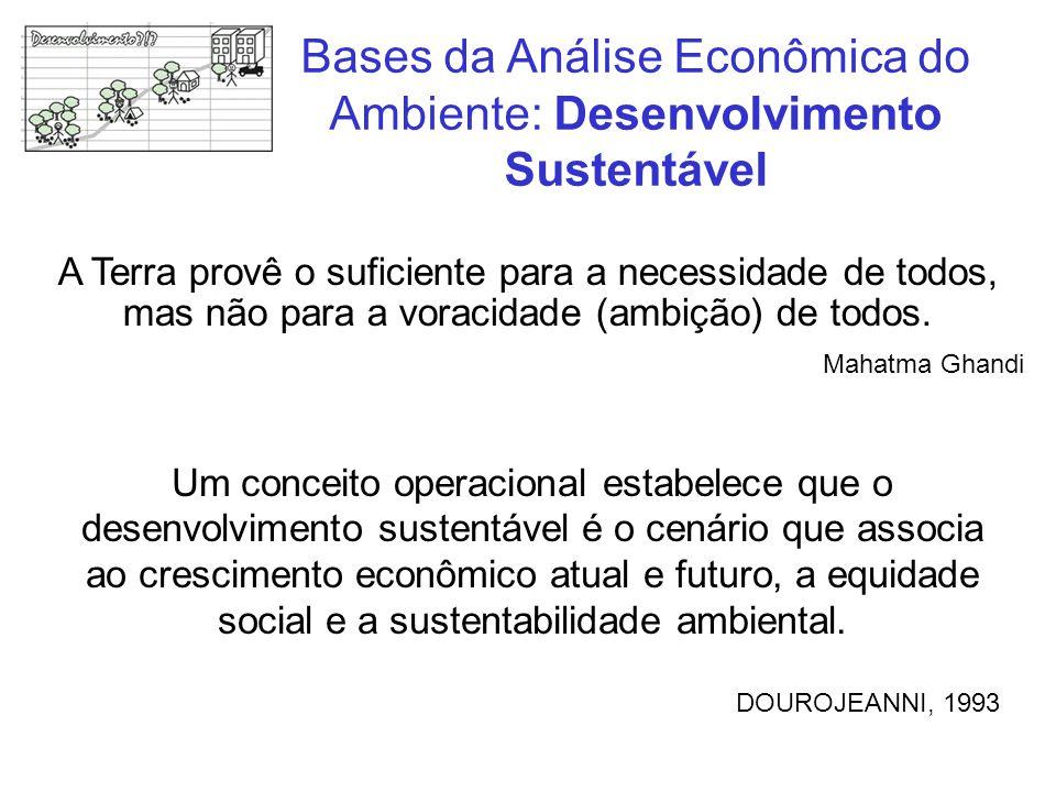 Bases da Análise Econômica do Ambiente: Desenvolvimento Sustentável