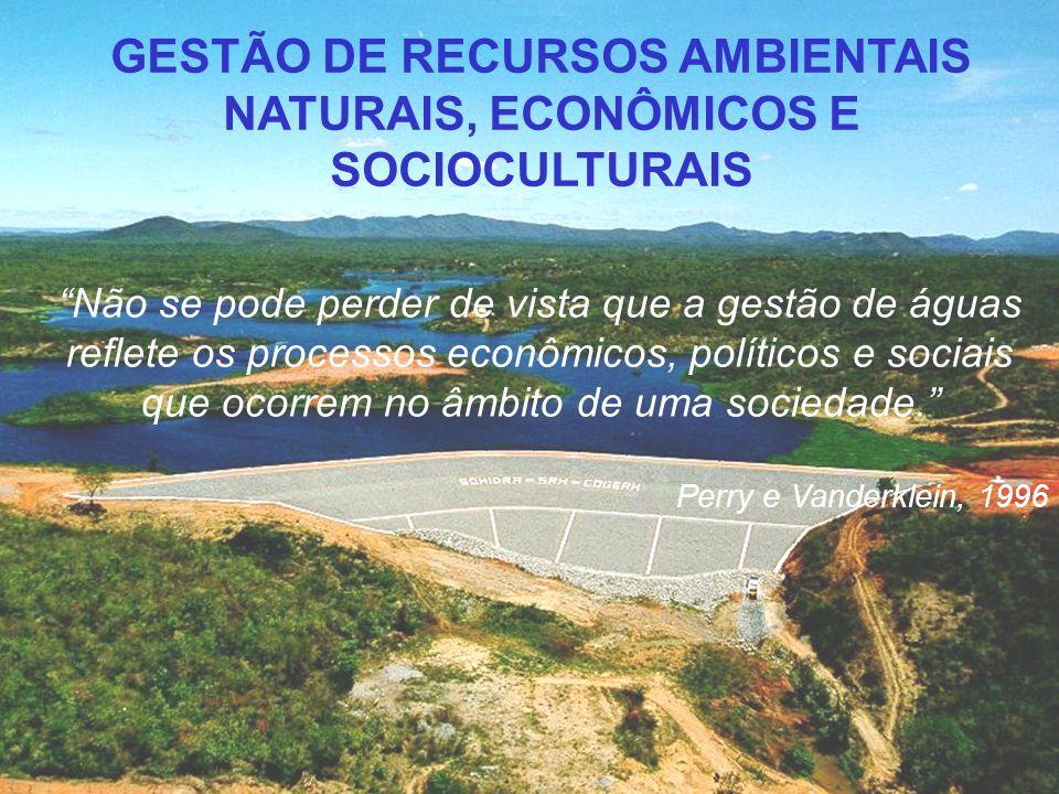 GESTÃO DE RECURSOS AMBIENTAIS NATURAIS, ECONÔMICOS E SOCIOCULTURAIS
