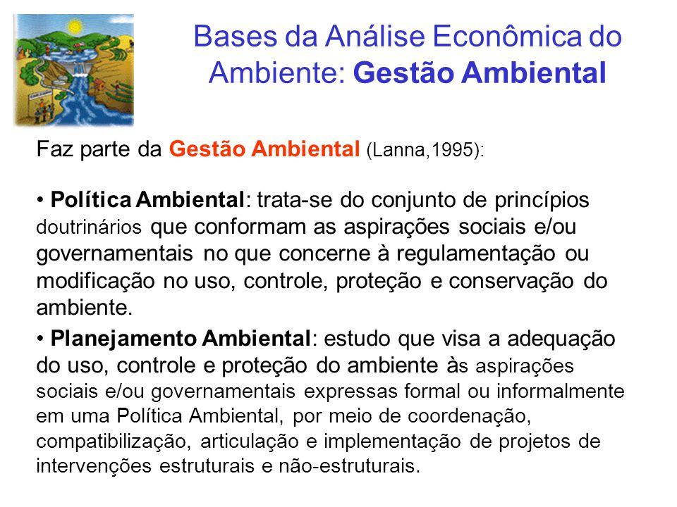 Bases da Análise Econômica do Ambiente: Gestão Ambiental