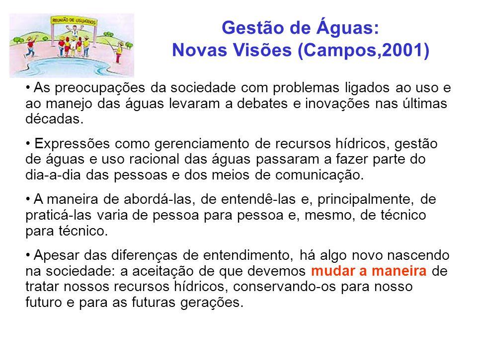 Gestão de Águas: Novas Visões (Campos,2001)