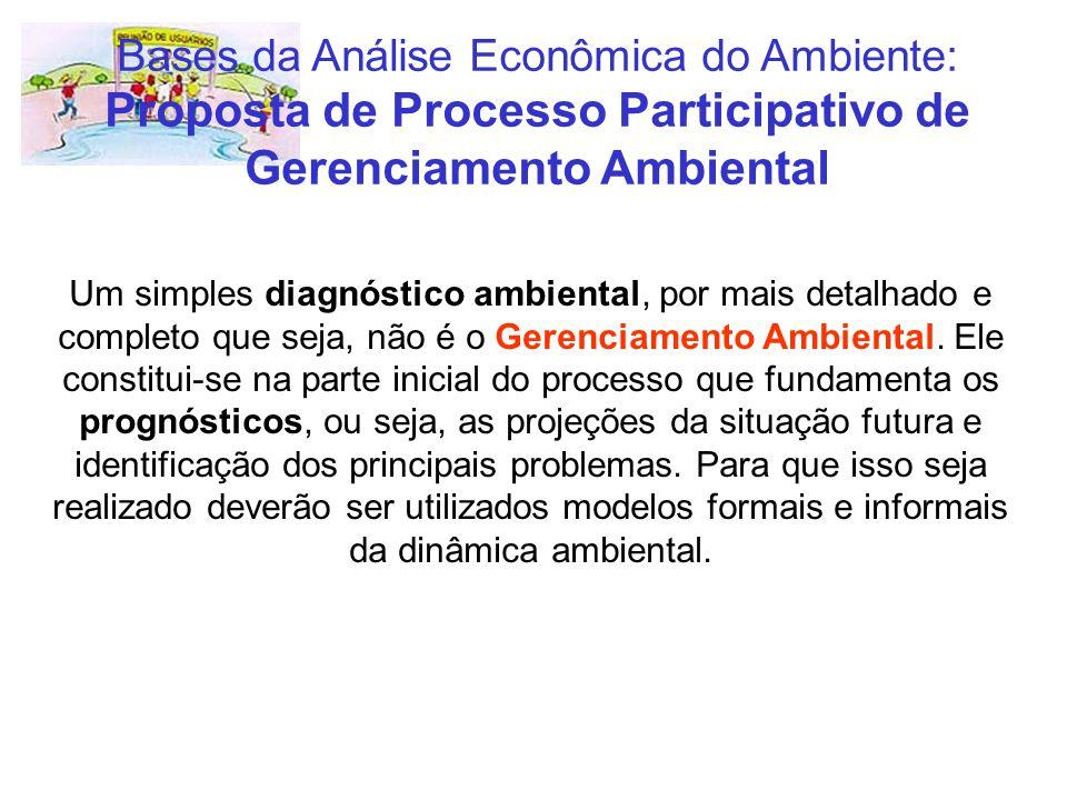Bases da Análise Econômica do Ambiente: Proposta de Processo Participativo de Gerenciamento Ambiental