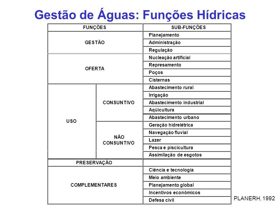 Gestão de Águas: Funções Hídricas