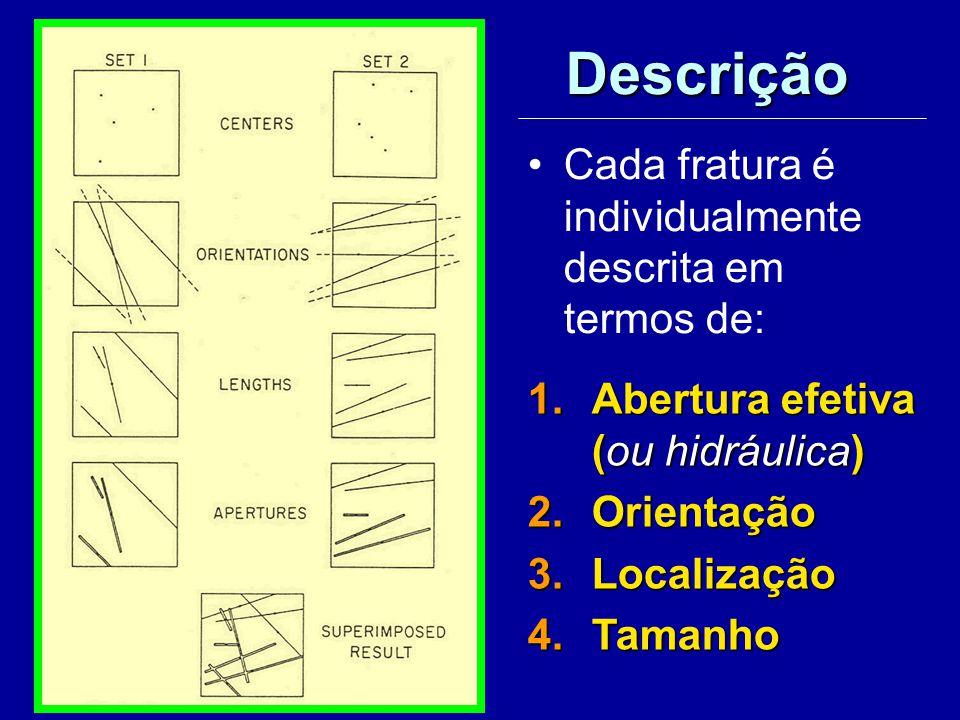 Descrição Cada fratura é individualmente descrita em termos de: