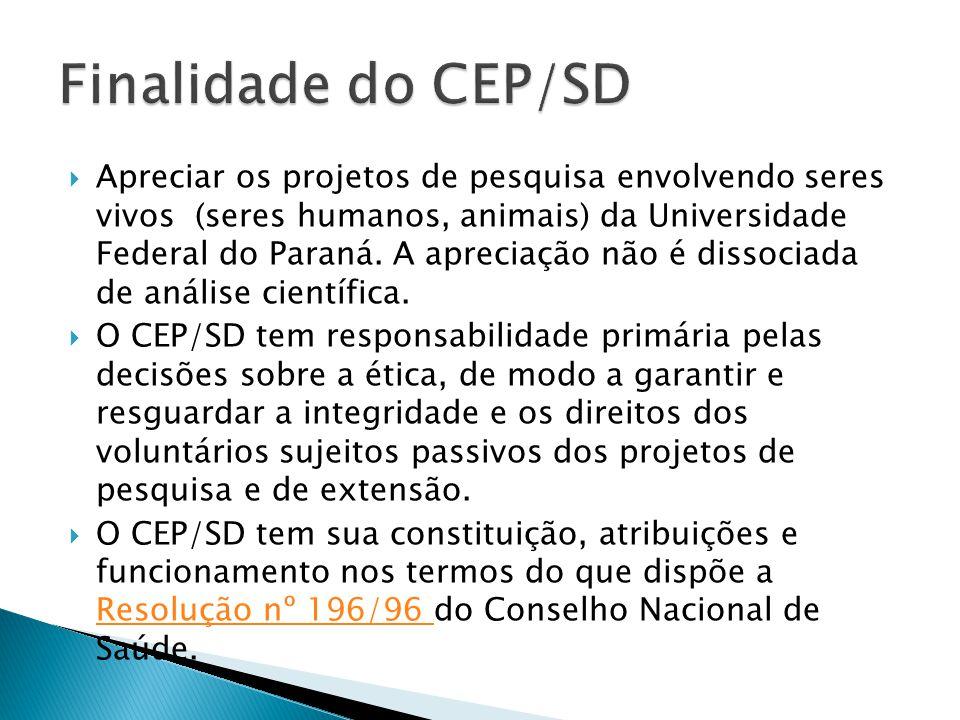 Finalidade do CEP/SD