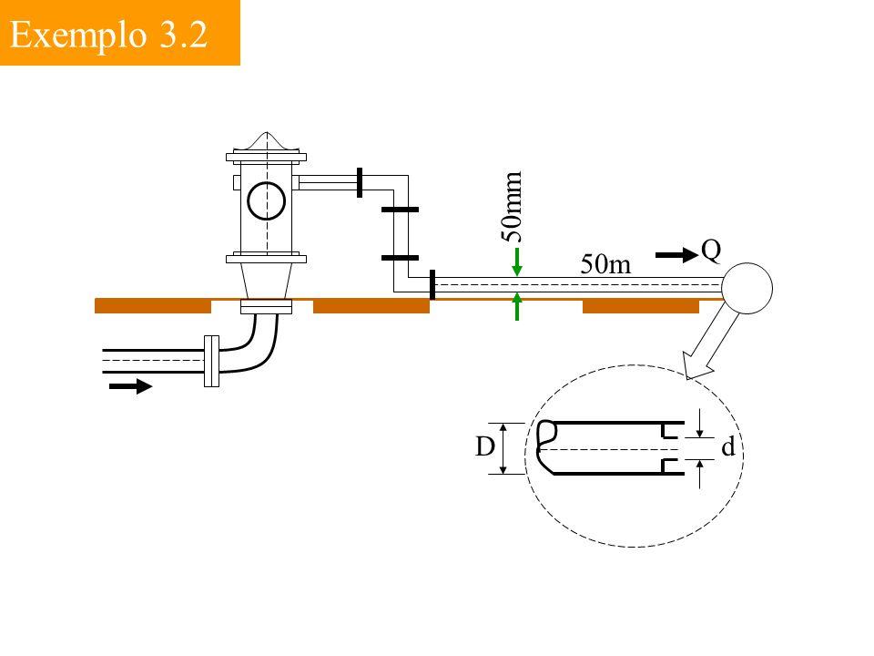 Exemplo 3.2 50mm Q 50m D d