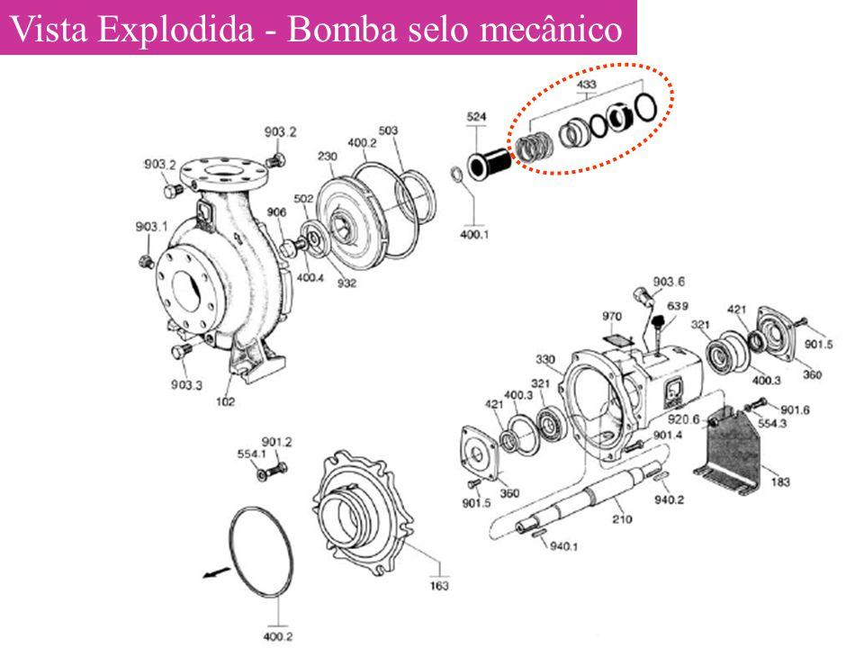Vista Explodida - Bomba selo mecânico