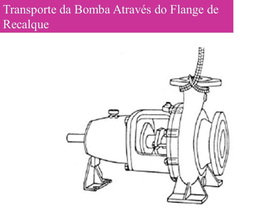 Transporte da Bomba Através do Flange de Recalque