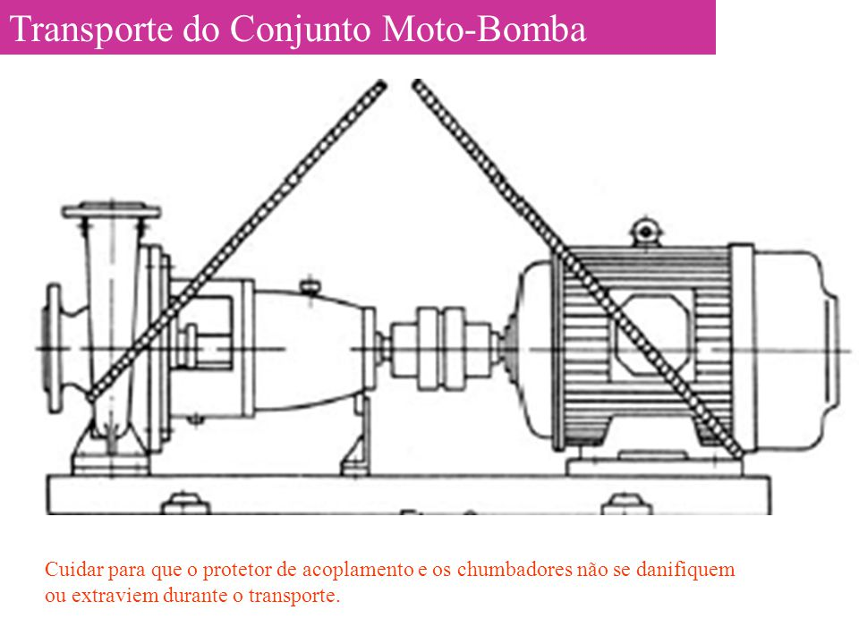 Transporte do Conjunto Moto-Bomba