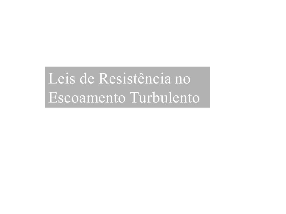 Leis de Resistência no Escoamento Turbulento