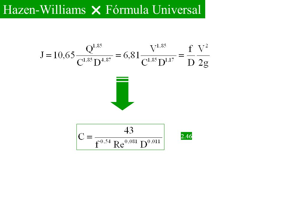Hazen-Williams  Fórmula Universal