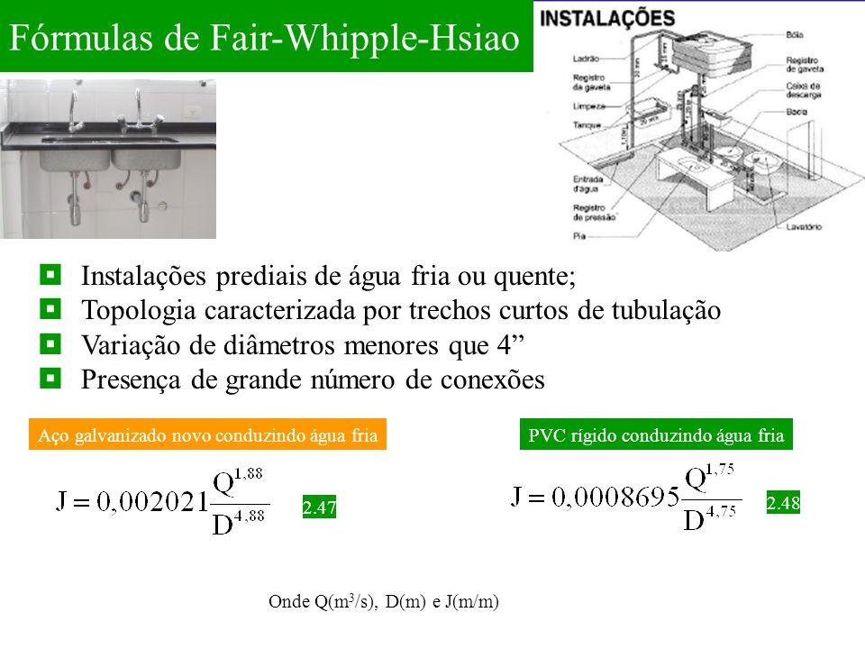 Fórmulas de Fair-Whipple-Hsiao