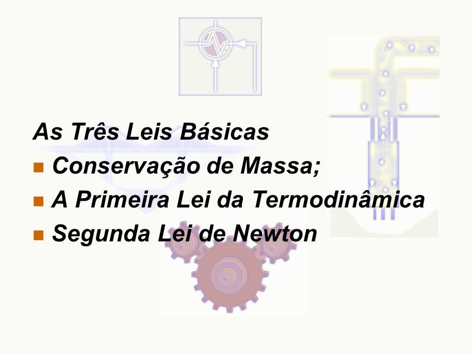 As Três Leis Básicas Conservação de Massa; A Primeira Lei da Termodinâmica Segunda Lei de Newton