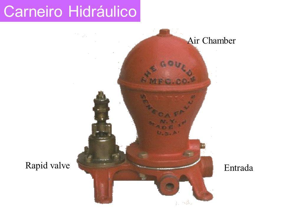 Carneiro Hidráulico Air Chamber Rapid valve Entrada