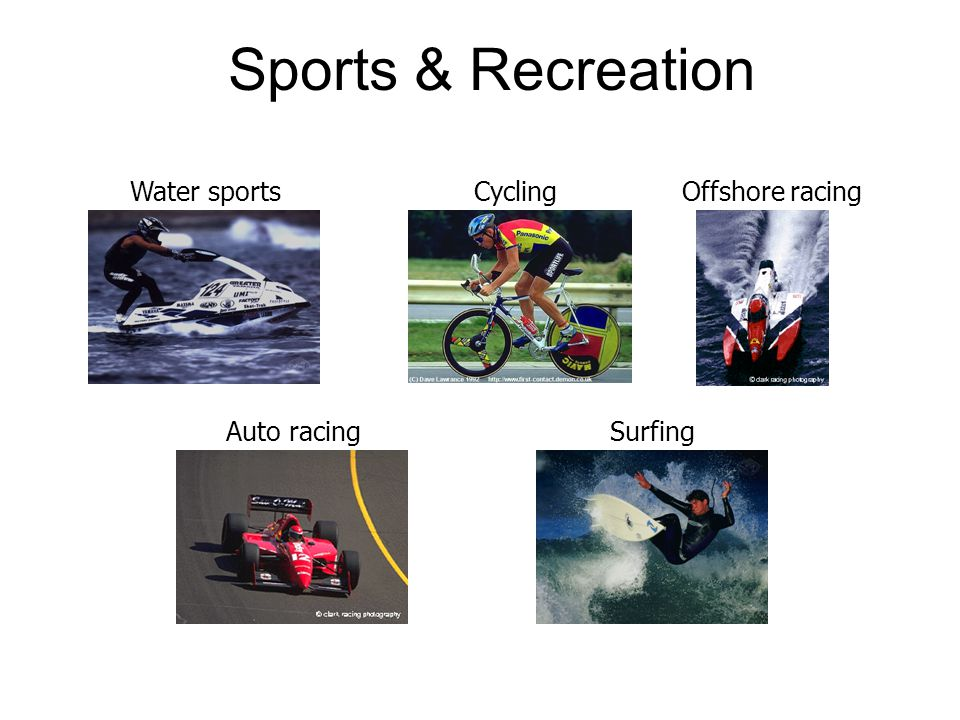 Sports & Recreation Water sports Cycling Offshore racing Auto racing