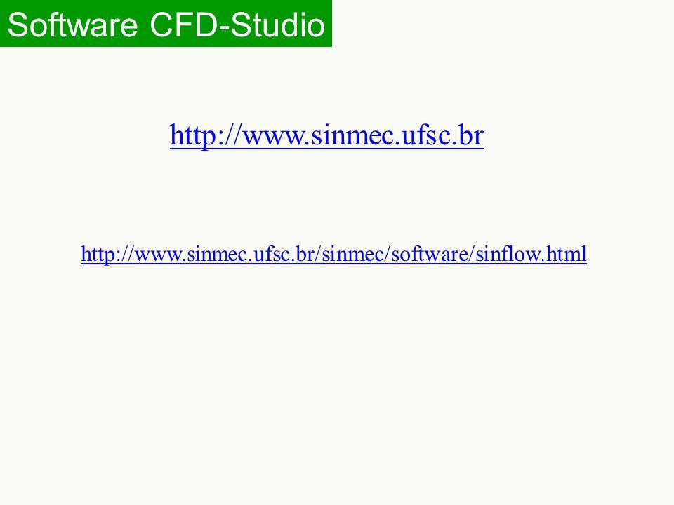 Software CFD-Studio http://www.sinmec.ufsc.br