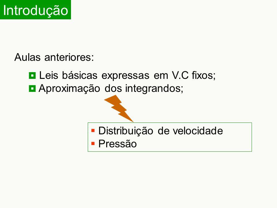 Introdução Aulas anteriores: Leis básicas expressas em V.C fixos;