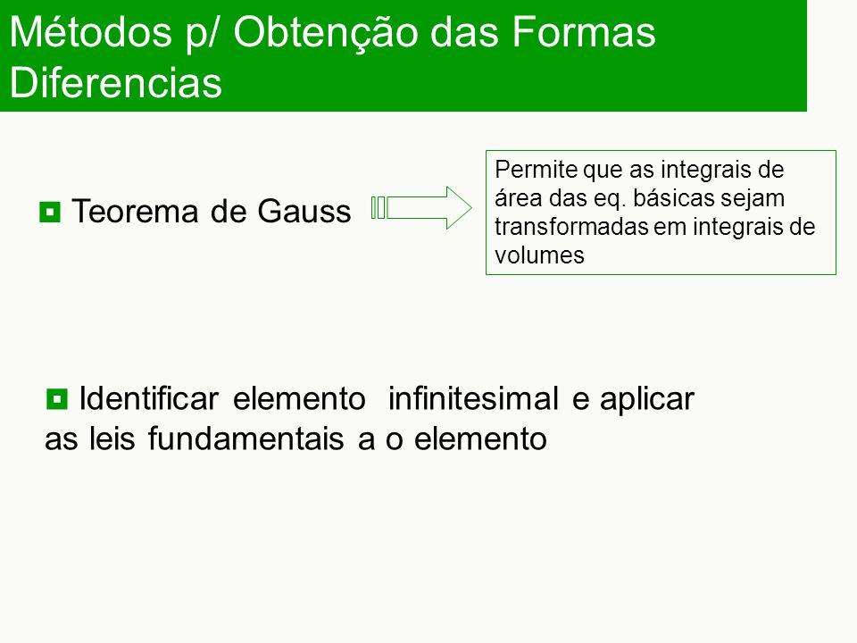 Métodos p/ Obtenção das Formas Diferencias