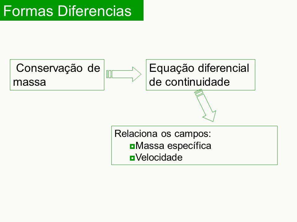 Formas Diferencias Conservação de massa